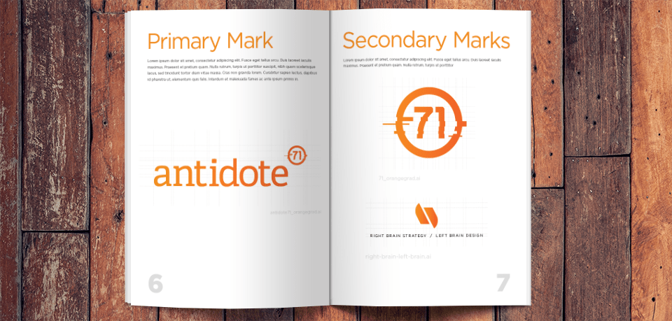 Antidote 71 Brand Standards Book