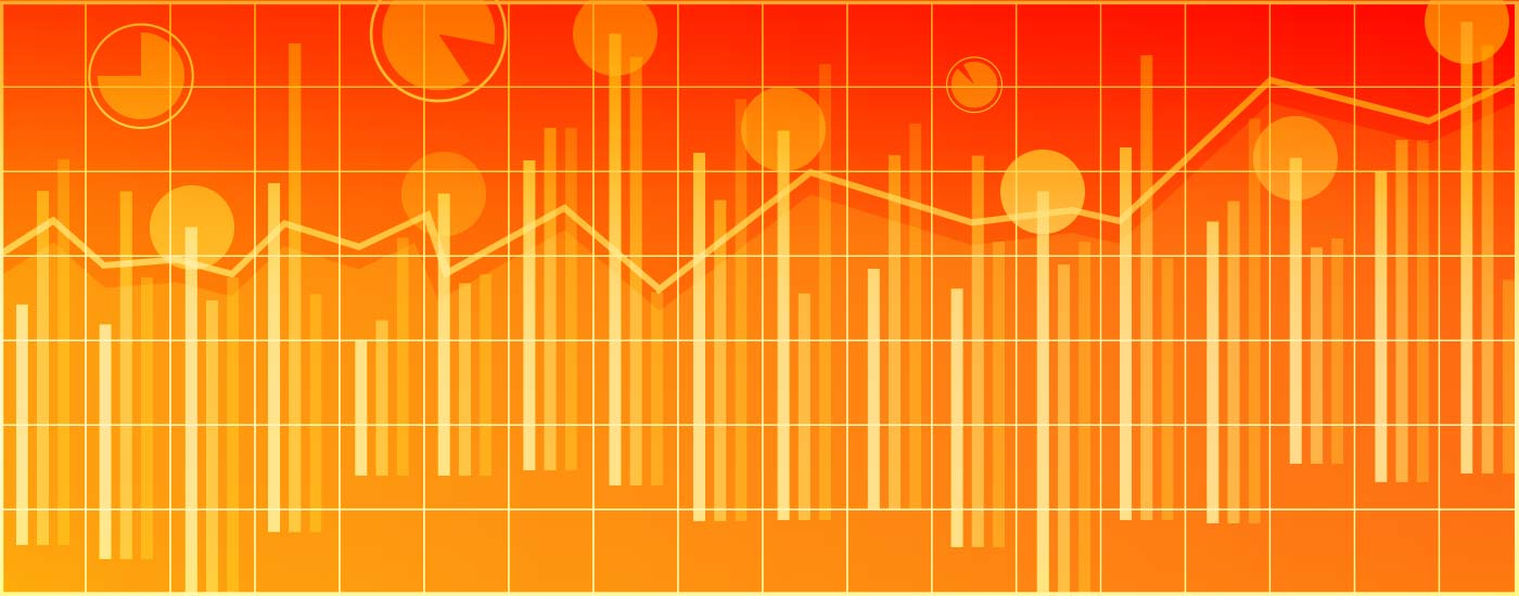 Bar Charts Orange Graphic