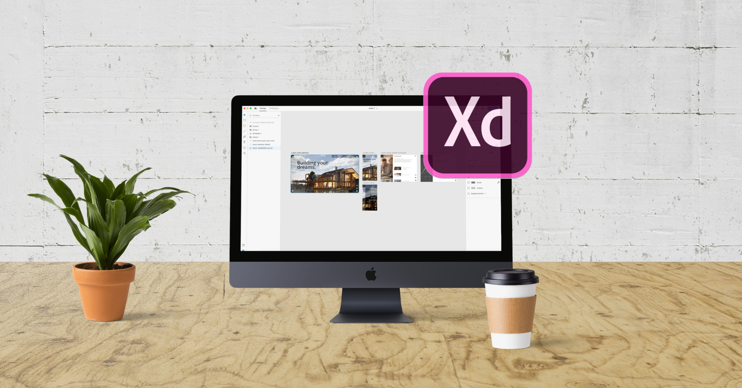 Adobe XD on iMac