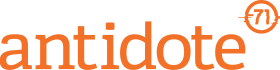 Antidote 71 Wordmark Logo Orange