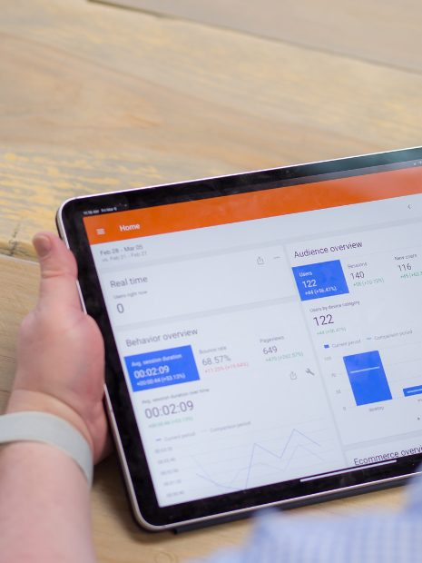 Google Analytics on Tablet
